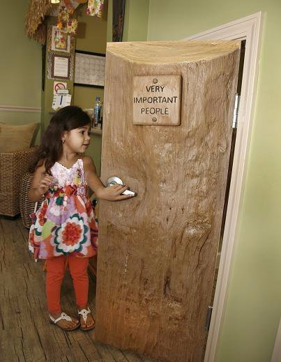 Image showing child-size door at the Rainbow Hodges office