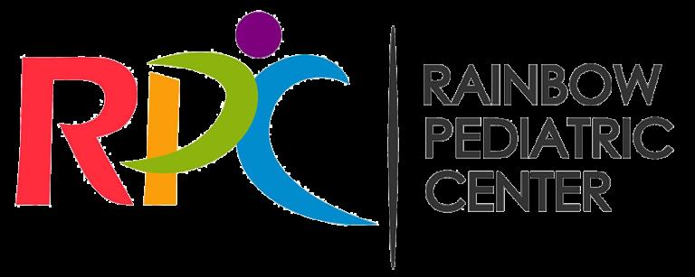 Rainbow-colored logo of RPC Rainbow Pediatric Center