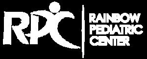 White-silhouette logo of RPC Rainbow Pediatric Center