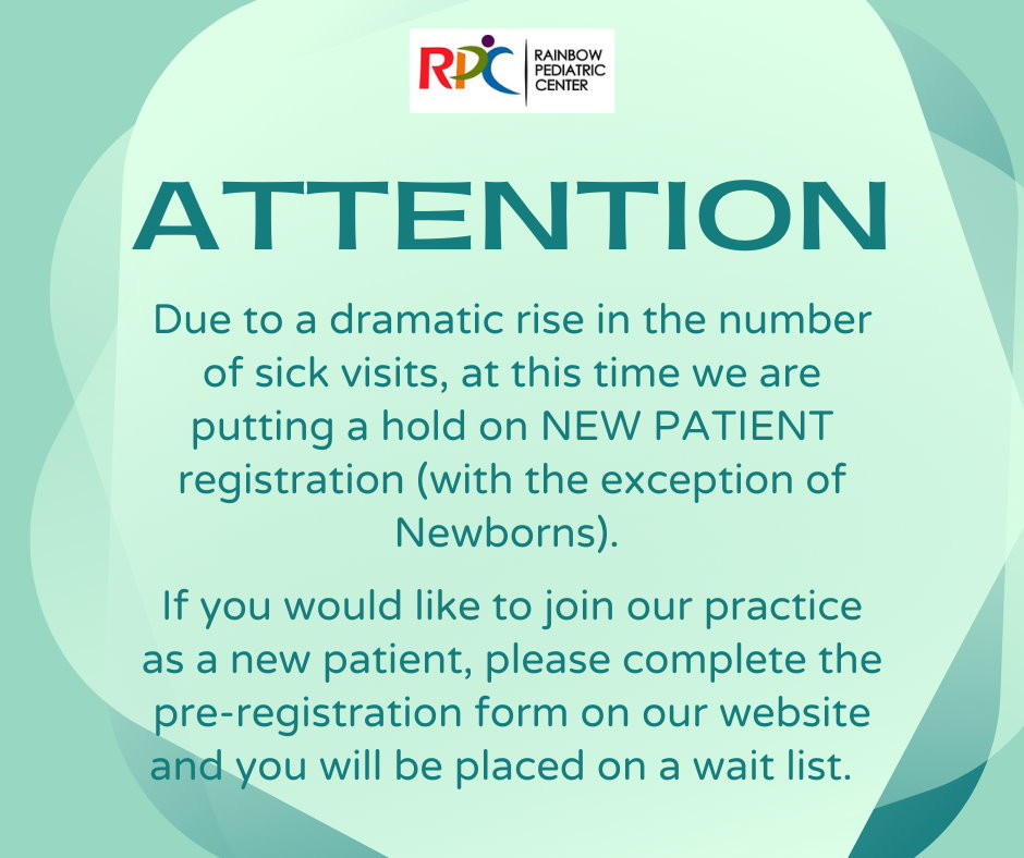 Attention, no new patients due to dramatic rise of sick visits