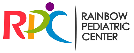 Rainbow-colored logo of RPC Rainbow Pediatric Center